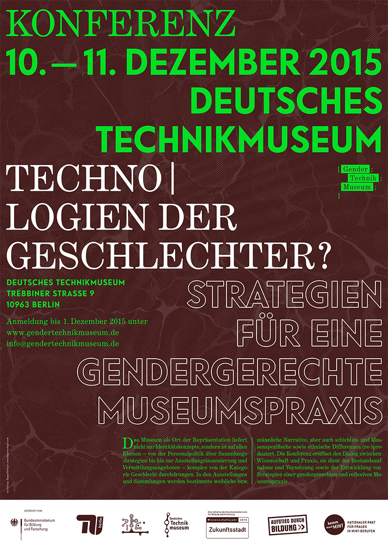 Konferenz-Plakat Gender Technik Museum